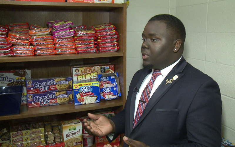 The story of Justin Franks's food pantry is a compelling reminder of the power of individuals when they freely come together to find societal solutions. (Photo: WHNT)
